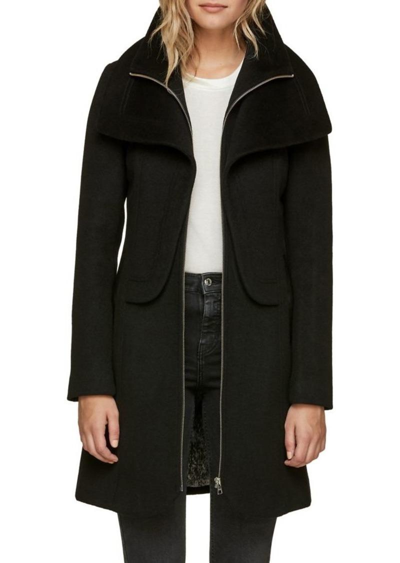 Soia & Kyo Wool-Blend Zip-Front Coat