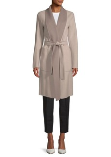 Soia & Kyo Tie-Waist Long Coat