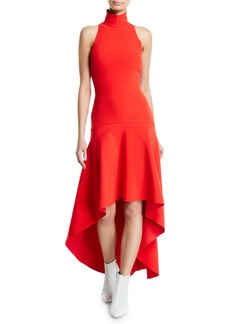Solace London Bahar Drop-Waist Asymmetrical Cocktail Dress