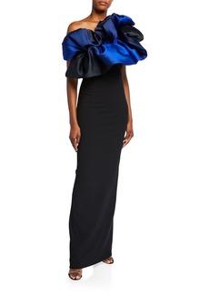Solace London Cairns Sleeveless Ruffle Maxi Dress