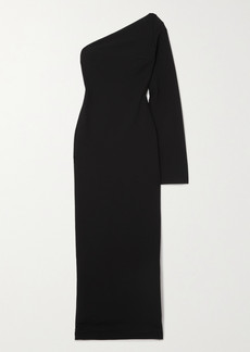 Solace London Callie One-sleeve Stretch-cady Maxi Dress