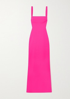 Solace London Crockett Cutout Stretch-cady Maxi Dress