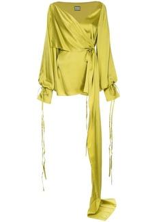 Solace London draped design wrap blouse