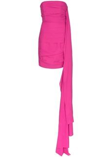 Solace London Etty strapless draped mini dress