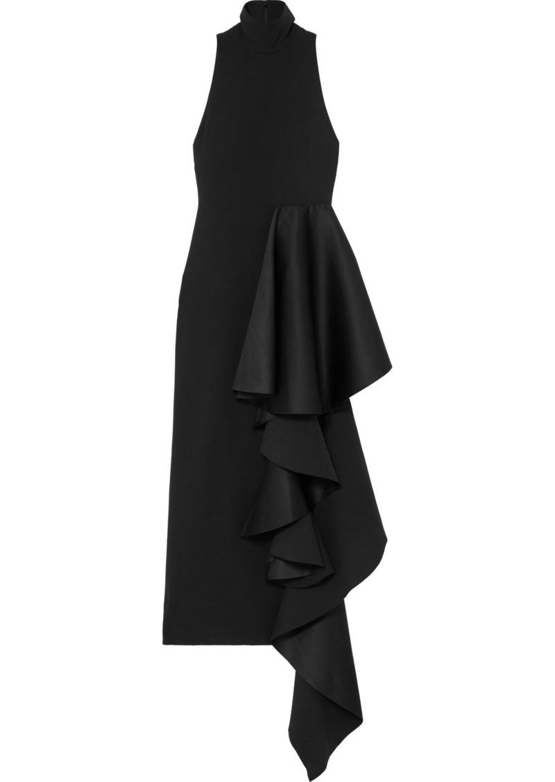 992edbfeb8b Solace London Lara Ruffled Stretch-crepe And Satin Midi Dress