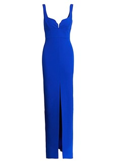 Solace London Linza Empire Waist Column Gown