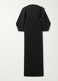 Solace London Lotta Off-the-shoulder Stretch-crepe Gown