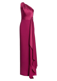 Solace London Mara One-Shoulder Gown