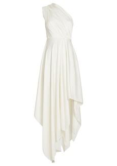 Solace London Marine One Shoulder Satin Dress