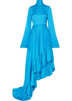 Solace London Marlee Asymmetric Crepe De Chine Dress