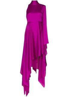 Solace London Naida asymmetric draped dress