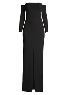 Solace London Odine Off-The-Shoulder Maxi Dress