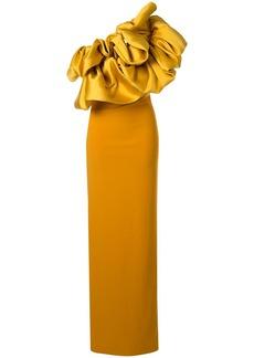 Solace London one shoulder maxi dress