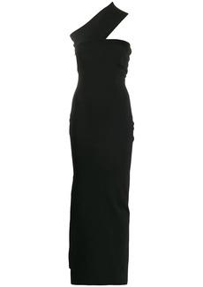 Solace London one shoulder side split dress
