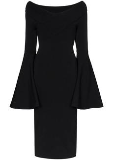 Solace London Ophira knit midi dress