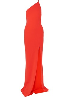 Solace London Petch One-shoulder Stretch-crepe Gown
