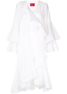 Solace London ruffled wrap dress