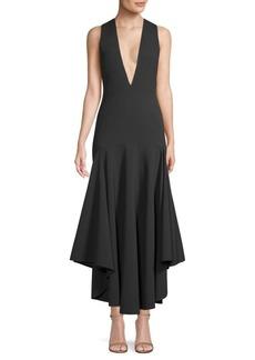 Solace London Satana V-Neck High-Low Dress