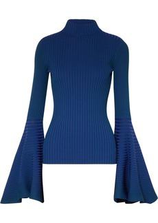 Solace London Sattal Ribbed Stretch-knit Turtleneck Top