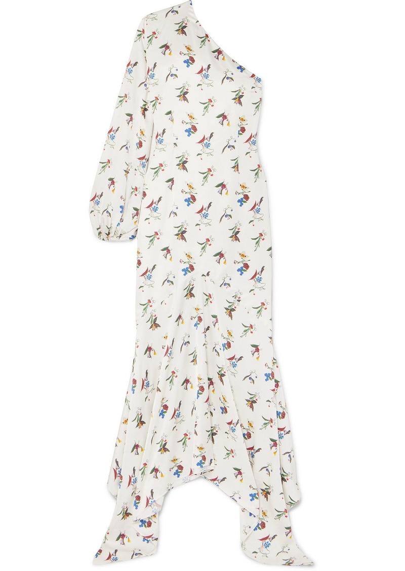 1dbca73fe3 Solace London Savon One-shoulder Floral-print Crepe Maxi Dress