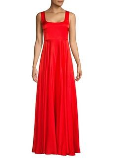 Solace London Sleeveless Squareneck Satin Gown
