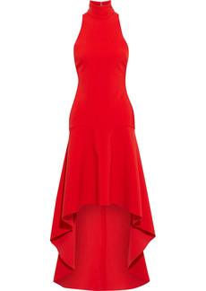 Solace London Woman Bahar Asymmetric Crepe Dress Red