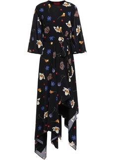 Solace London Woman Darline Voile Wrap Dress Black