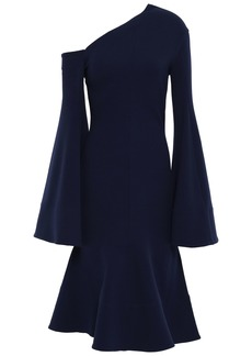Solace London Woman Haso Stretch-crepe Dress Navy