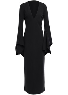 Solace London Woman Laroche Stretch-crepe Maxi Dress Black