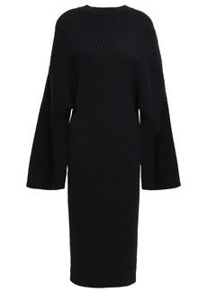 Solace London Woman Nadi Ribbed-knit Dress Black