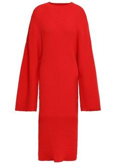 Solace London Woman Nadi Ribbed-knit Dress Red