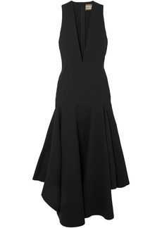 Solace London Woman The Santana Ruffled Crepe Midi Dress Black