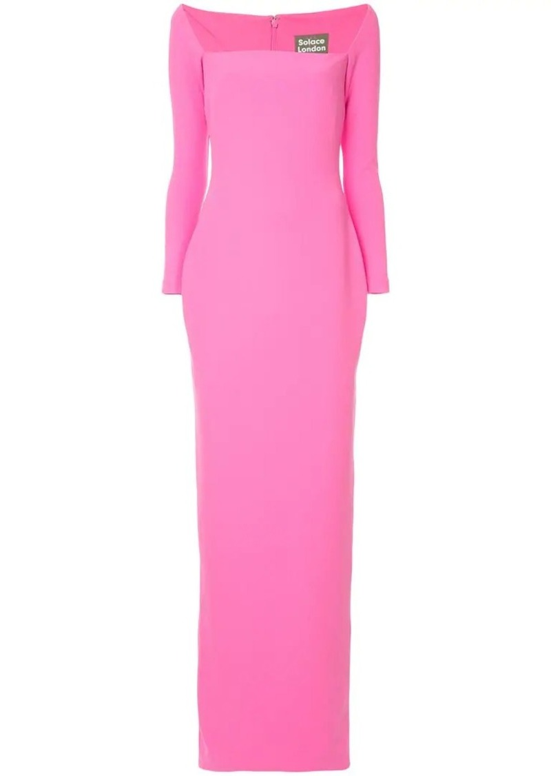 1149ab2667a Solace London square neck maxi dress