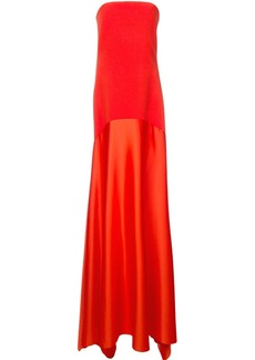 Solace London strapless floor-length gown