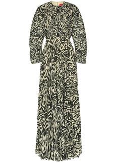 Solace London Taima pleated maxi dress