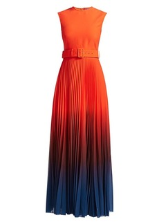 Solace London Willow High-Neck Belted Maxi Dress
