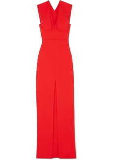 Solace London Ziva Crepe Maxi Dress