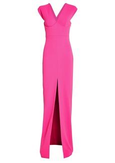 Solace London Ziva Split Front Gown