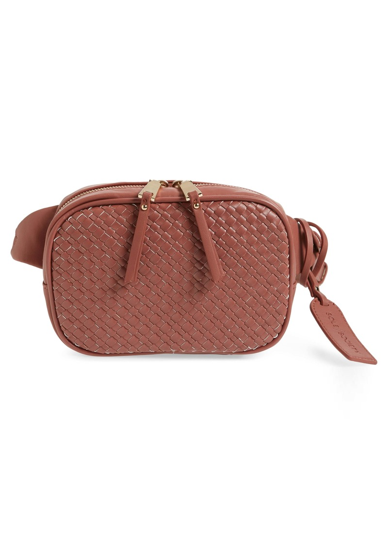 Sole Society Ady Faux Leather Belt Bag