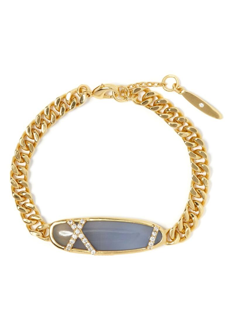 Sole Society Agate & Pavé Bracelet