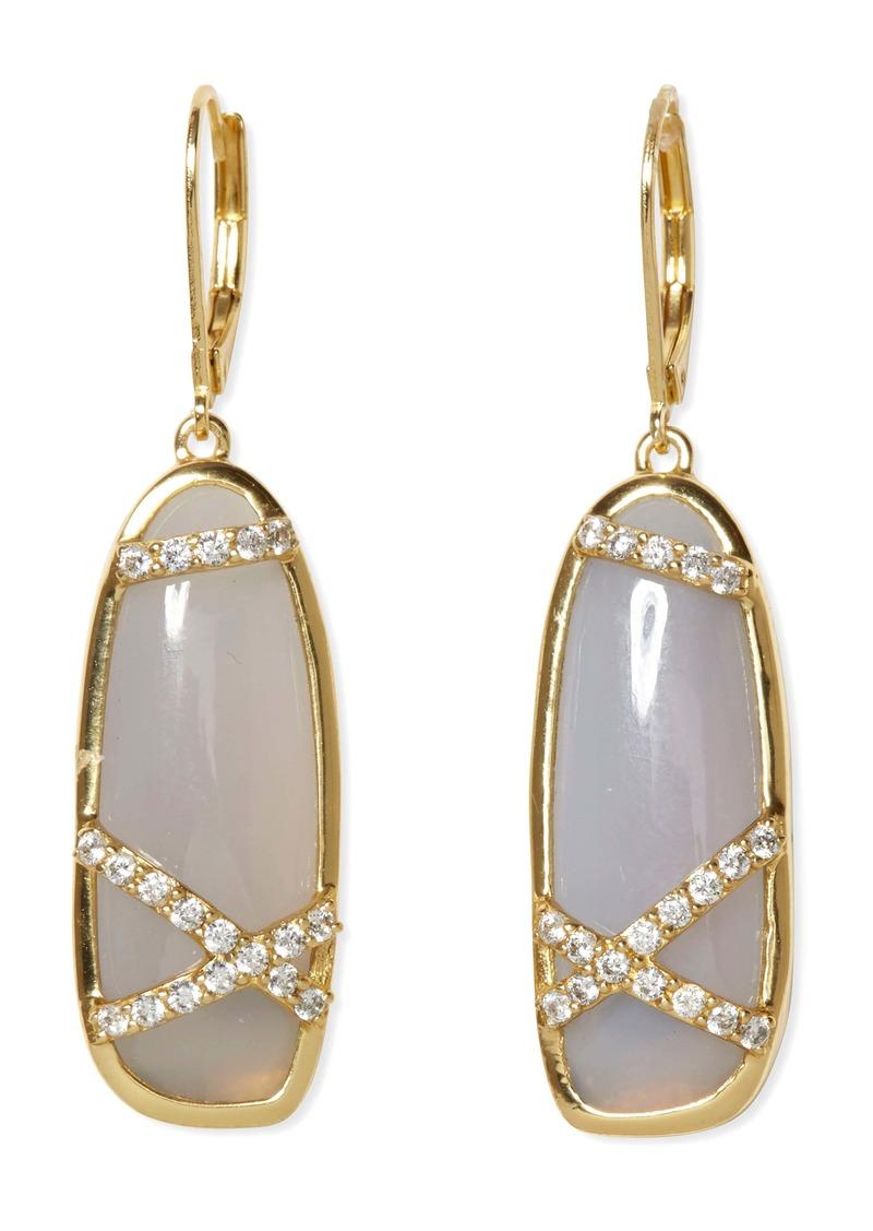 Sole Society Agate Drop Earrings