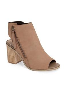 Sole Society Arizona Block Heel Peep-Toe Bootie (Women)