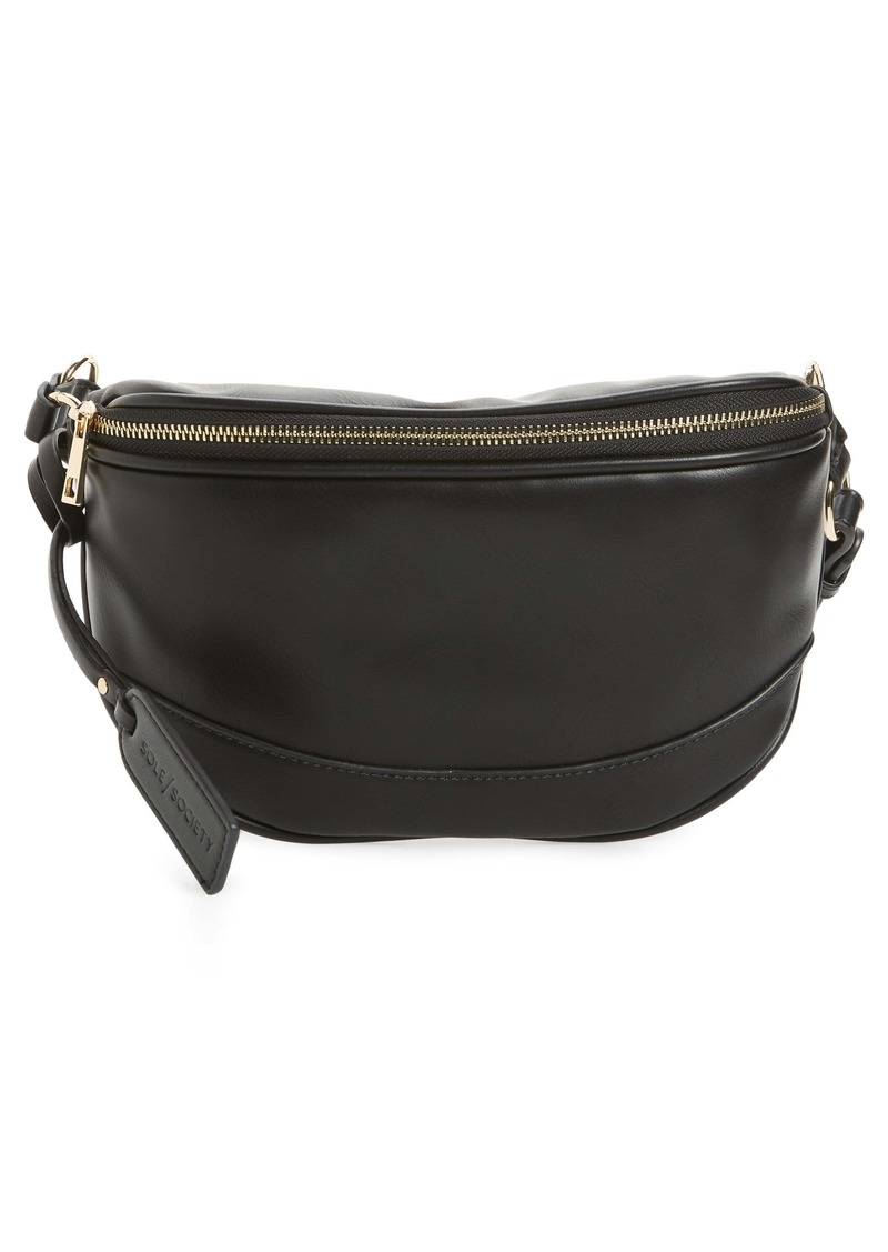 Sole Society Audrey Faux Leather Belt Bag