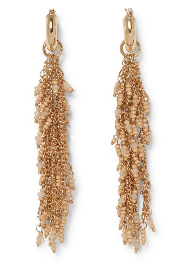 Sole Society Beaded Waterfall Earrings