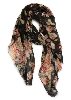 Sole Society Bouquet Floral Scarf
