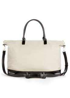 Sole Society Canvas Duffel Bag with Faux Leather Trim