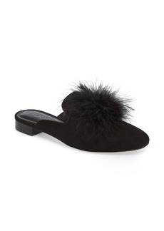 Sole Society Cleona Feather Pompom Mule (Women)