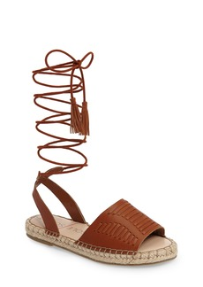 Sole Society Clover Ankle Wrap Espadrille Sandal (Women)