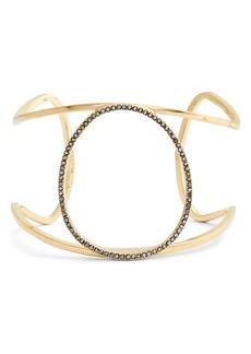 Sole Society Crystal Embellished Large Cuff Bracelet.