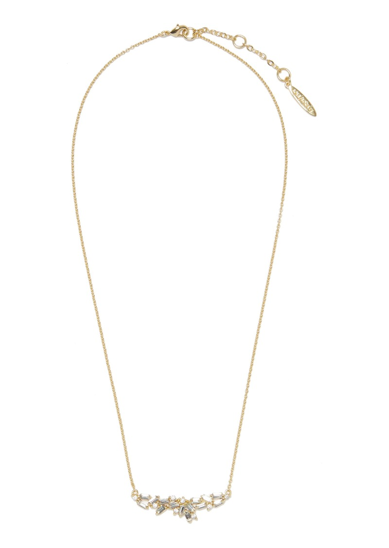 Sole Society Crystal Frontal Necklace